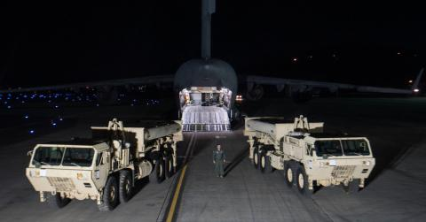 U.S. starts moving controversial missile defense to South Korea