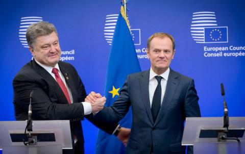 Poroshenko congratulates Tusk on his re-election as European Council President