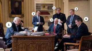 The photo that highlights White House turmoil