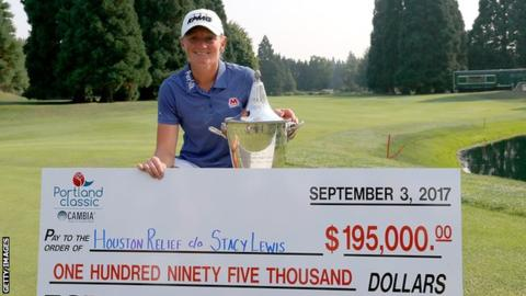Stacy Lewis donates ?150,000 winnings to Houston flood victims