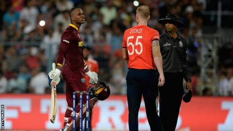 England v West Indies: Marlon Samuels tells Ben Stokes to 'stay on the boundary'