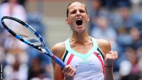 US Open: Karolina Pliskova beats Jennifer Brady to reach quarter-finals