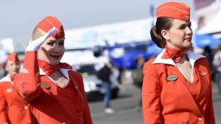 Aeroflot flight attendants win compensation over uniform size