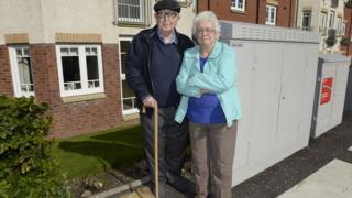 Pensioners' view blocked by broadband boxes