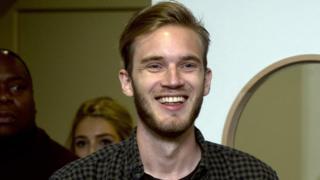 YouTube star PewDiePie makes racial slur
